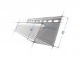 J- профиль для фасадных панелей Grand Line Белый