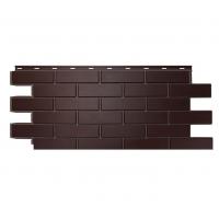 """Фасадная панель Nordside (Нордсайд) """"Гладкий кирпич"""",Темно-коричневый"""