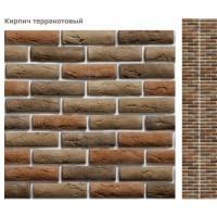 Стеновая панель ПВХ UNIQUE Кирпич терракотовый (матовый лак)