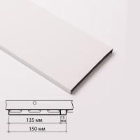 Реечный потолок Албес Рейка AN135A Белый матовый 3м