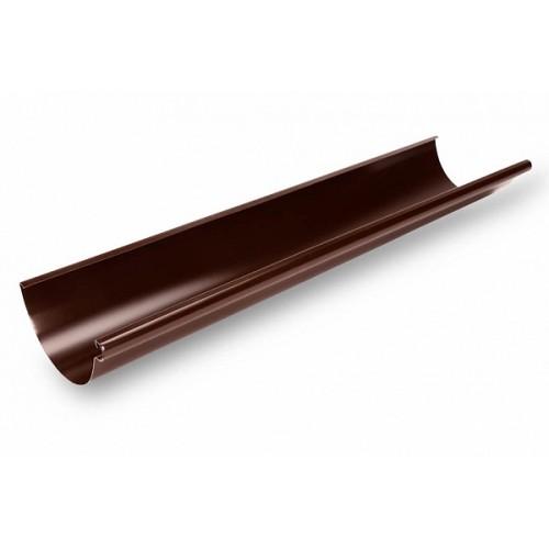 Желоб водосточный 124/90 металл темно-коричневый