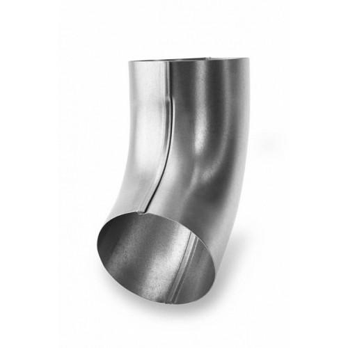 Колено водосточное 124/90 металл белый